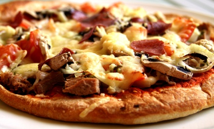 Pizza and Gyros at The Pizza Stop (50% Off). Two Options Available.