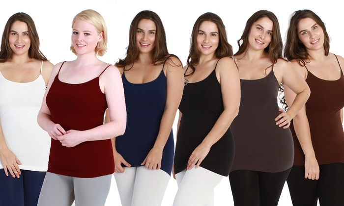 9fd2fc8971a Women s Plus Size Slimming Camisole (6-Pack)