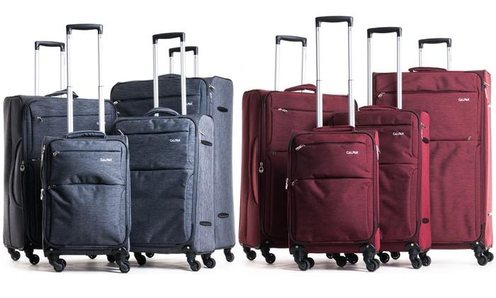 Topanga Luggage Set (4-Piece) | Groupon Goods