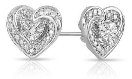 Diamond Accent Heart Earrings