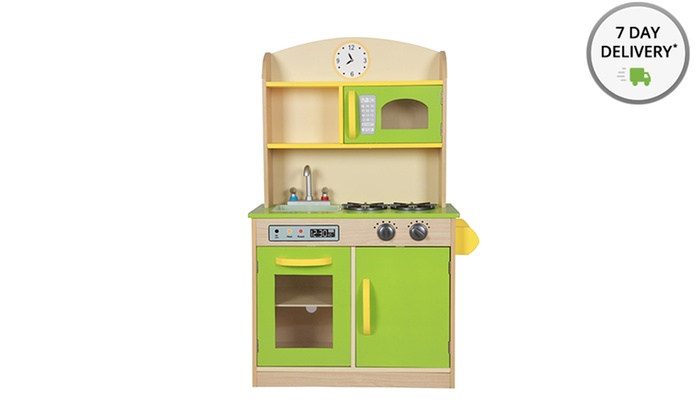 Teamson Wooden Play Kitchen Groupon Goods