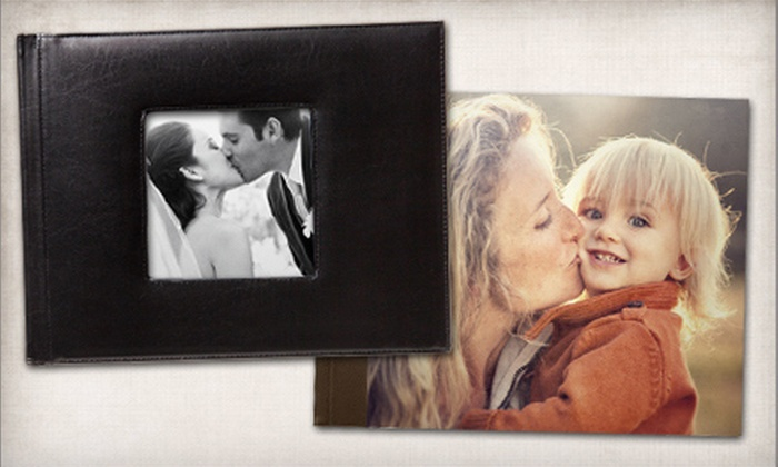 """Picaboo: 8.5""""x11"""" Custom Regency or Madison Leather-Bound Photo Book from Picaboo (Up to 61% Off)"""
