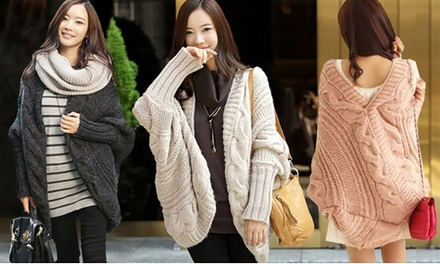 Wool Blend Chunky Cable Knit Cardigans: One $19 or Two $29