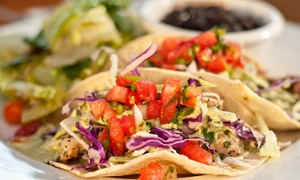 Cafe Vida: Healthy Latin Dinner for Two with Appetizer, Entrees, and Wine at Cafe Vida (37% Off). Two Options Available.