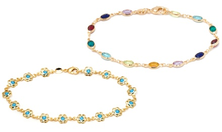 Ankle Bracelets with Swarovski Elements Crystals from $13.99–$17.99