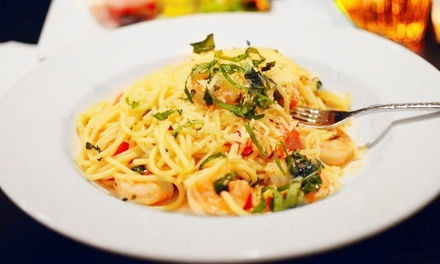 Italian Food and Drinks for Two, Four, or More at Scoozi (Up to 42% Off). Two Options Available.