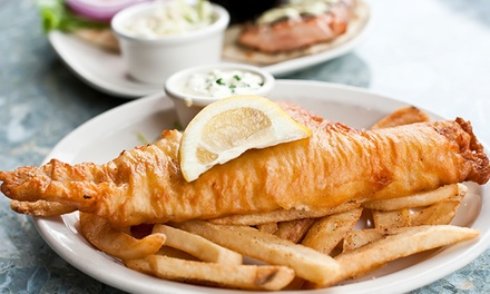 Fish and Chips, Side Dish and Drink for One or Two at Railway Tavern Fish and Chips (Up to 35% Off)