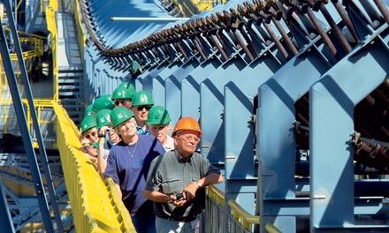 90 Min. Rundgang über den Stahlgiganten für eine, zwei, vier oder sechs Personen im Besucherbergwerk F60 (50% sparen*)