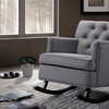 Upholstered Button-Tufted Rocking Chair