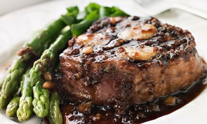 Pacer's Italian Cuisine and Steakery: Three-Course Italian Steakhouse Dinner for 2 or 4 at Pacer's Italian Cuisine and Steakery (Up to 49% Off)