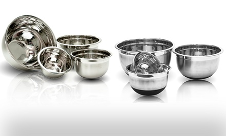 4-Piece Set of Stainless Steel Mixing Bowls. Multiple Options Available. Free Returns.