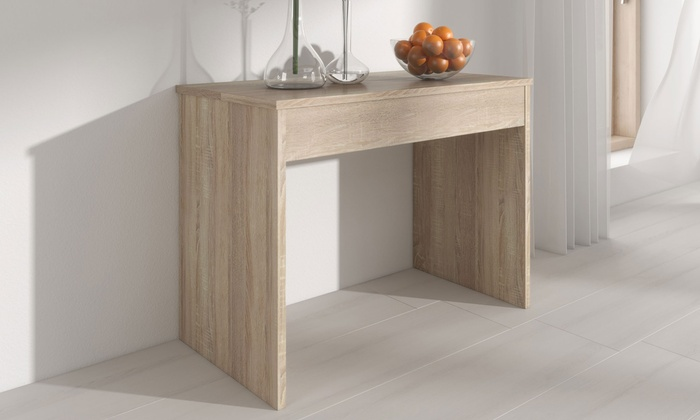 Extending dining console table groupon goods for Table extensible 3m groupon