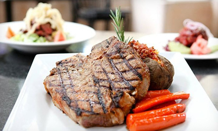 Chops Steak, Seafood & Bar - Multiple Locations: Steak-House Lunch for Two or Four at Chops Steak, Seafood & Bar (Half Off)