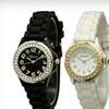 $8 for a Women's Crystal Silicone Watch