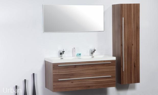 Meubles pour salle de bain groupon shopping for Meuble salle de bain double vasque haut de gamme