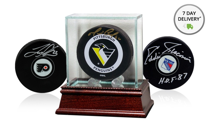Autographed NHL Hockey Puck or Glass Display Case: Autographed NHL Hockey Puck or Glass Display Case. Multiple Options Available from $16.99–$164.99. Free Returns.