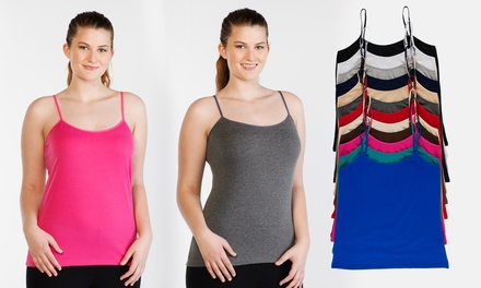 12-Pack of Women's Plus-Size Scoop-Neck Cami Tanks