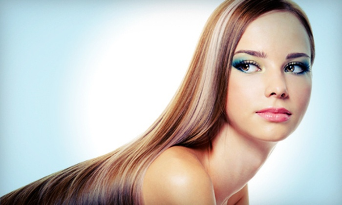 Angelora Color Salon - Oakdale: Highlights or Deep Conditioning with Haircut or Color at Angelora Color Salon (Up to 65% Off). Five Options Available.