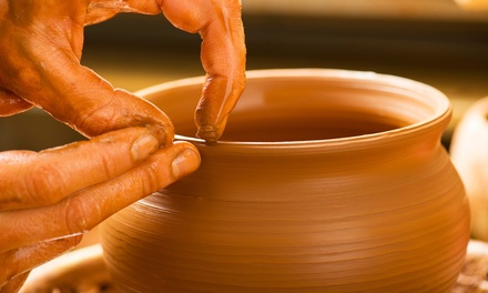 Play with Clay Wheel Throwing Class for One or Two at Down to Earth Pottery (48% Off)