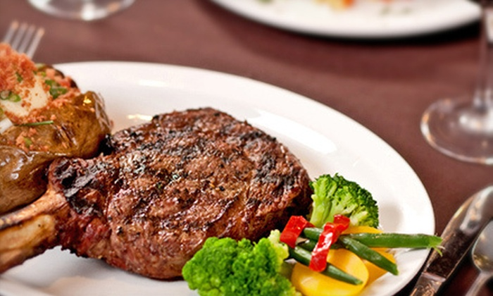 Castle Ranch Steakhouse - Sunrise Rim: Steak-House Cuisine and Drinks for Dinner at Castle Ranch Steakhouse (Half Off). Two Options Available.