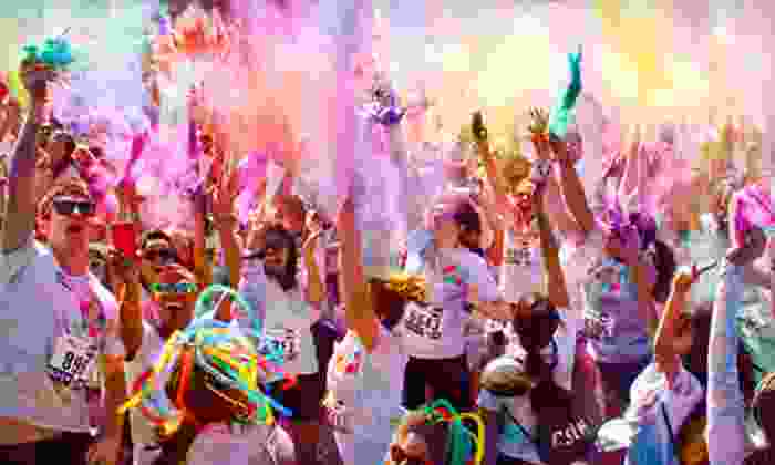 Run or Dye - Speedway: Colorful 5K Race Entry for One or Two at Run or Dye (Up to 53% Off)