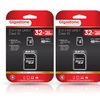Gigastone 32GB MicroSDHC Card with SD Adapter (2-Pack)