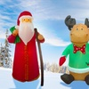 Holiday Santa and Reindeer Inflatables