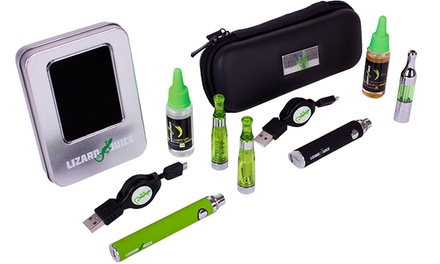 E-cigarettes, E-liquid, and Accessories at Lizard Juice (49% Off). Four Options Available.