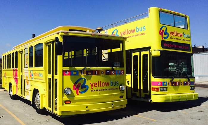 Yellow Bus - Fishermans Wharf: Hop On Hop Off City Loop Sightseeing Tours from Yellow Bus (Up to 62% Off). Six Options Available