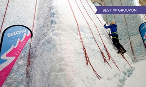 Snow Factor at Braehead: Ice Wall Climbing With a Meal For One or Two at Snow Factor (Up to 47% Off)