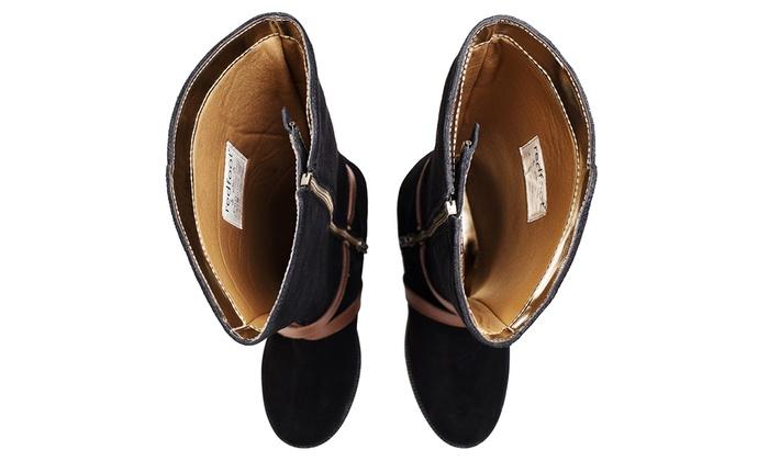 Bottes cavalières 100% cuir, ajustables selon les mollets Redfoot, pointure et coloris au choix, dès 46,99€
