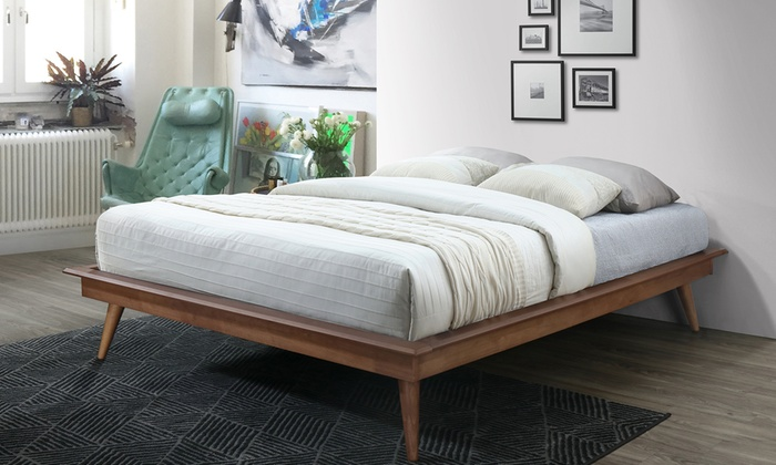Gold Glass Dining Table, Baxton Studio Prince Mid Century Modern Style Solid Wood Platform Bed Groupon