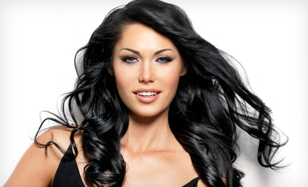 Women's Cut, Conditioning, and Eyebrow Wax with Optional Highlights, or Men's Cut at B' Polished Salon (Up to 53% Off)