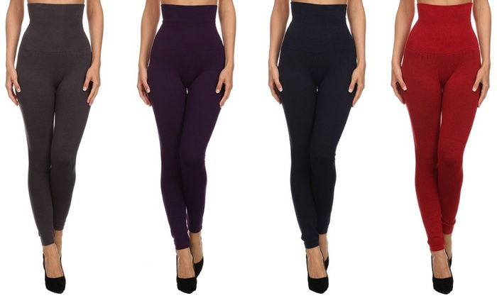 High Waisted Compression Leggings - Trendy Clothes