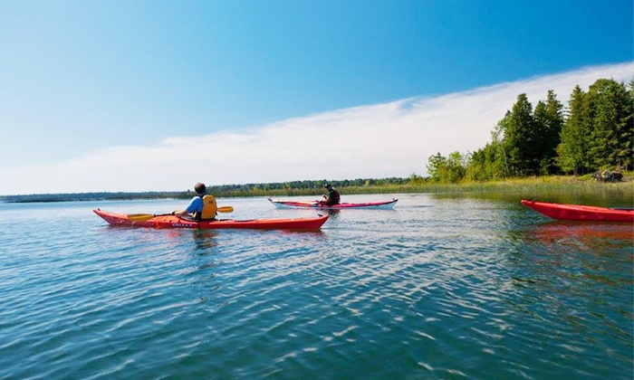 Woods and Water Ecotours - Clark: Three-Hour Sunset Kayaking Trip for Two or Half-Day Kayaking Trip for One from Woods and Water Ecotours (51% Off)