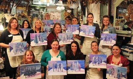 Painting-Class Admission for One, Two, or Four Classes for One Person at The Green Lace Lion (Up to 50% Off)