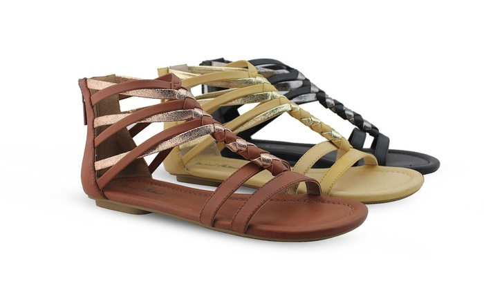 Women's Michael Antonio Damon Braided Flat Sandals