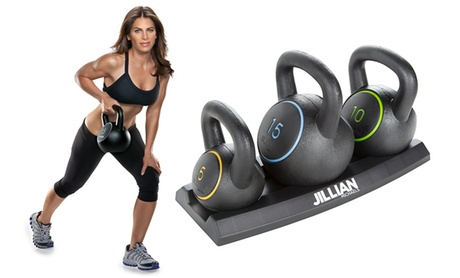 Jillian Michaels Vinyl Kettlebell Set (3-Piece)