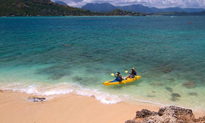 Windward Watersports - Kailua: Kayak or Standup Paddleboard Rental or Kayak Tour for Two or Four at Windward Watersports in Kailua (Up to 61% Off)