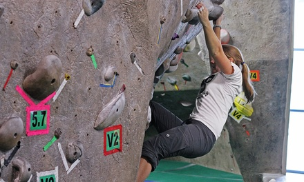 One or Five Days of Indoor Climbing or Group Climbing for 5 or 10 at Boulders Climbing Gym (Up to 58% Off)