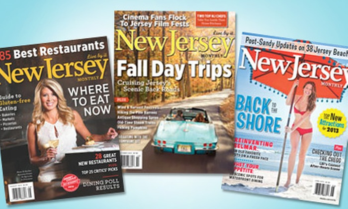 "<i>New Jersey Monthly</i>: $9 for a 12-Month Subscription to ""New Jersey Monthly"" Magazine ($19.95 Value)"