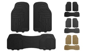 Trimmable Heavy Duty Rubber Floor Mats (3-Piece)