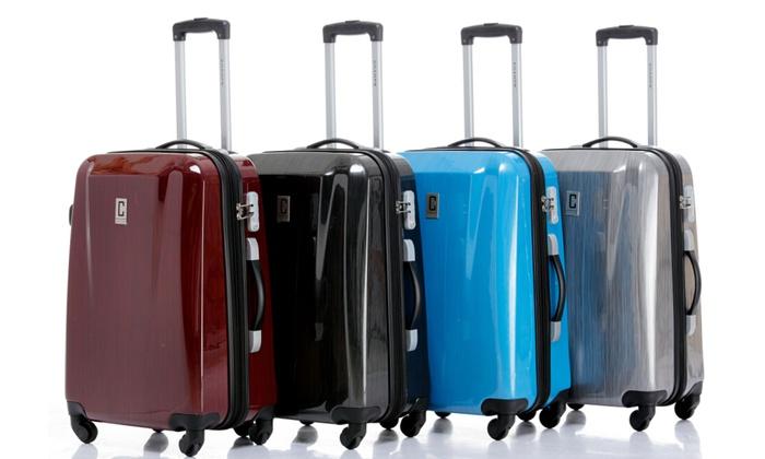 3 Pc Spinner Luggage Set Groupon Goods