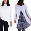 Women's Long Sleeve High-Low Tunic