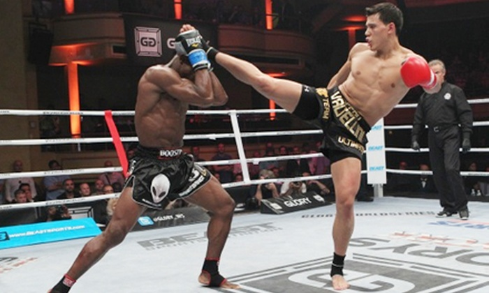 GLORY 11 Chicago - Hoffman Estates: Heavy Weight World Package with One Beer and One Souvenir T-Shirt at Glory 11 at Sears Centre Arena (Up to 72% Off)