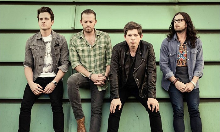 Kings of Leon: 2014 Mechanical Bull Tour - Irvine Meadows Amphitheatre: Kings of Leon at Verizon Wireless Amphitheatre Irvine on October 5 at 7 p.m. (Up to 48% Off)