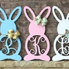 Up to 50% Off Wooden Monogrammed Bunnies from Whimsy Timber