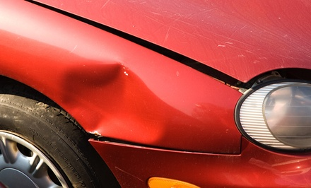 Body Work, Collision Repairs, or Deductible at Premier Collision (Up to 60% Off). Two Options Available.