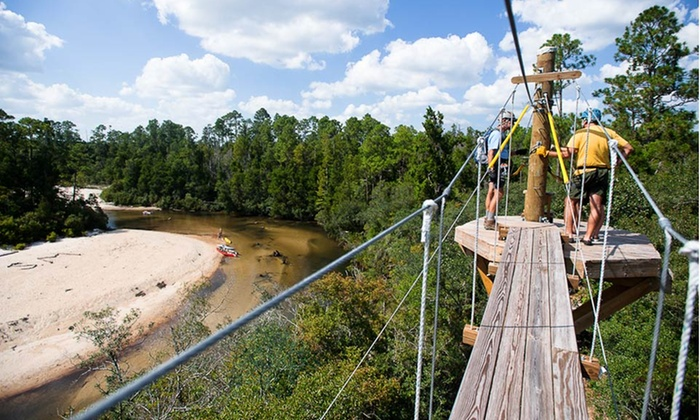 Adventures Unlimited - Milton, FL: Three-Night Stay with Zipline and Kayak or Paddleboard Tours at Adventures Unlimited in Milton, FL