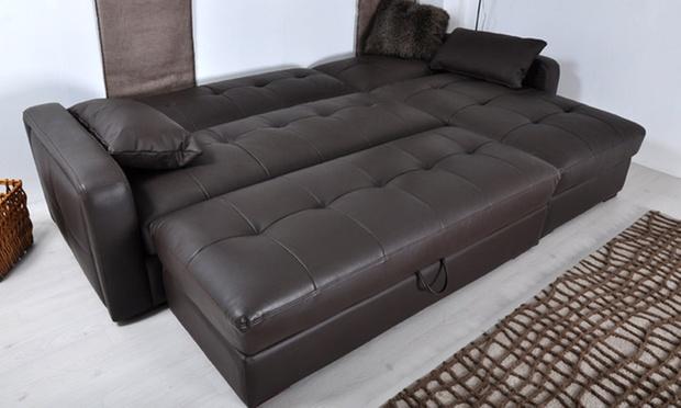 canap d 39 angle convertible torino ou milano groupon shopping. Black Bedroom Furniture Sets. Home Design Ideas